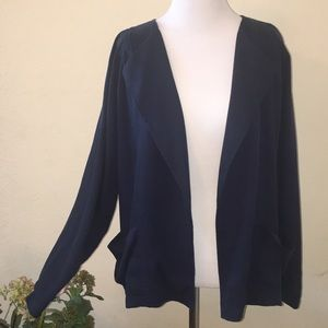 NWOT Lucky Brand Draped Open Front Jacket
